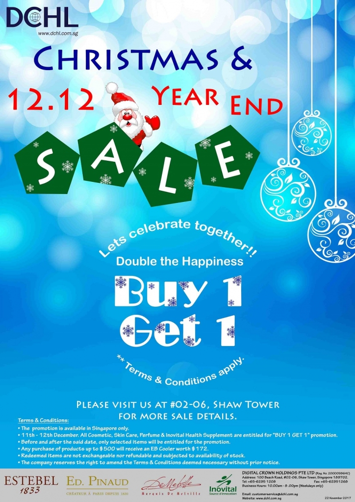 1. Double 12 Year End Sale