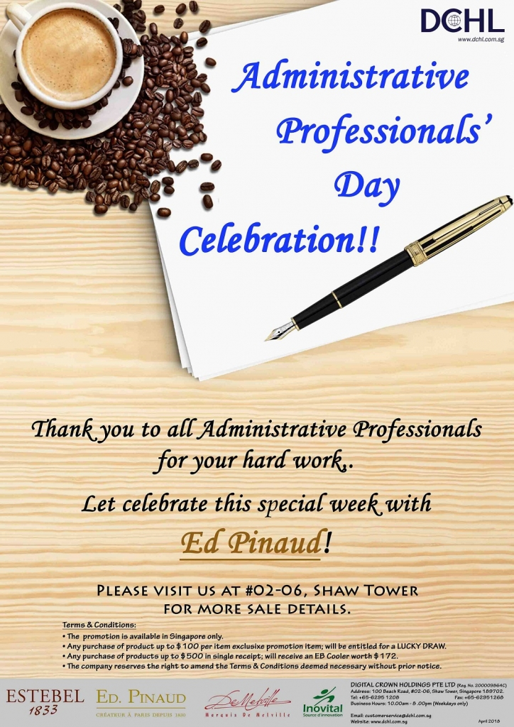 1.Administrative Professionals' Day