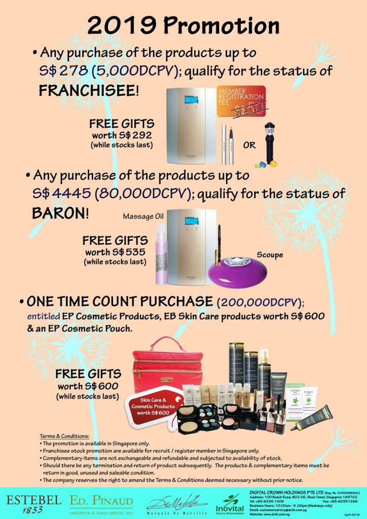 2. April's Promotion - Count & Baron, Franchisee Stock