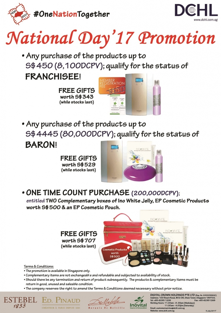 2. August Promotion - Count & Baron, Franchisee Stock