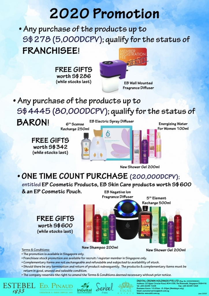2. June'20s Promotion - Count & Baron, Franchisee Stock