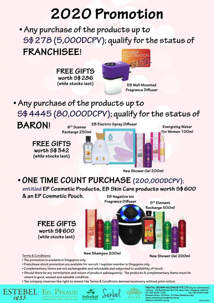 2. Mar'20s Promotion - Count & Baron, Franchisee Stock