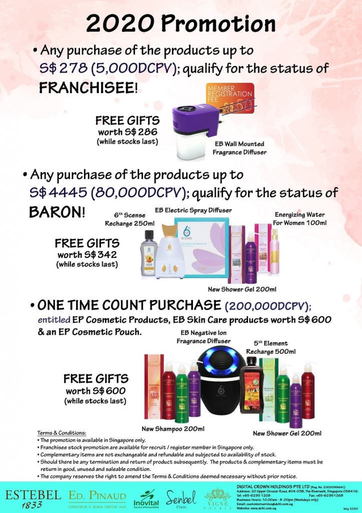 2. May'20s Promotion - Count & Baron, Franchisee Stock