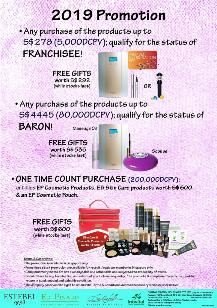 2. Nov-Dec's Promotion - Count & Baron, Franchisee Stock