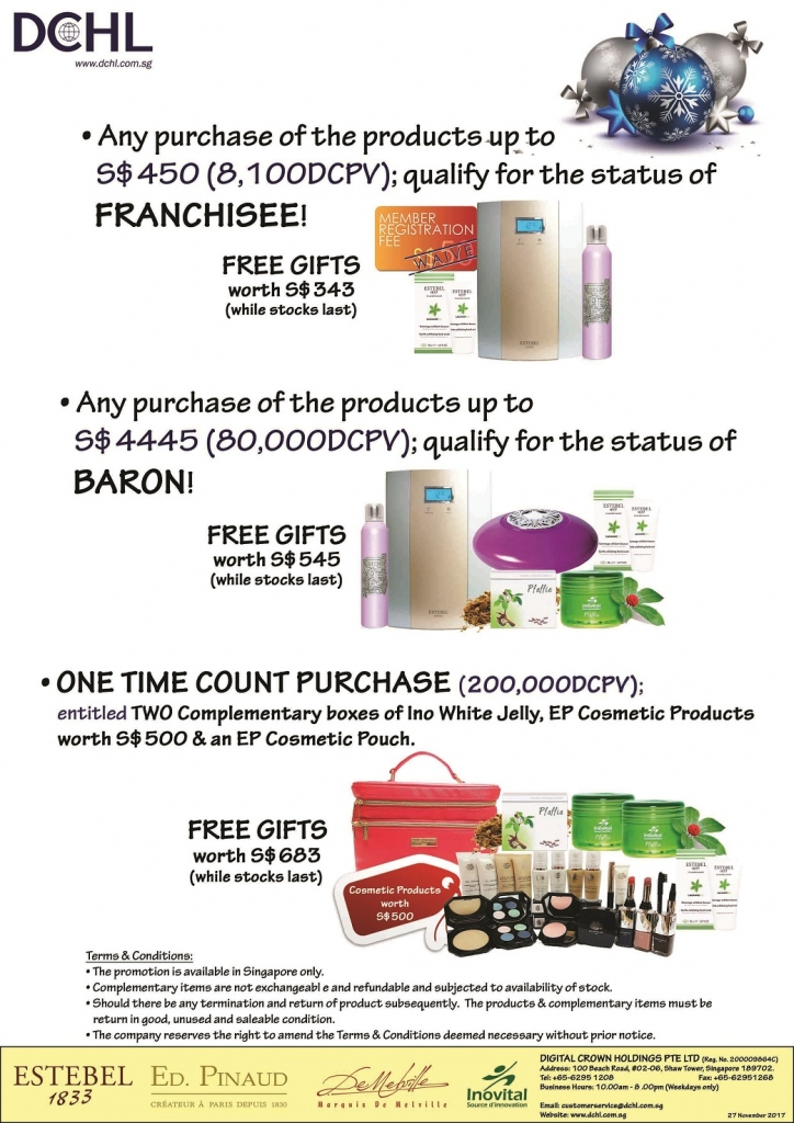 2. November Promotion - Count & Baron, Franchisee Stock
