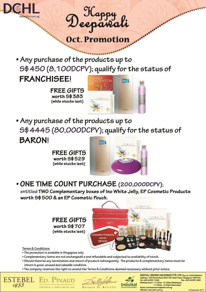 2. October Promotion - Count & Baron, Franchisee Stock