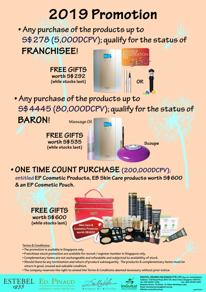 2. Oct's Promotion - Count & Baron, Franchisee Stock