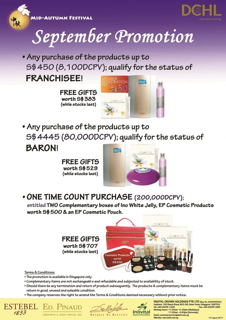 2. September Promotion - Count & Baron, Franchisee Stock