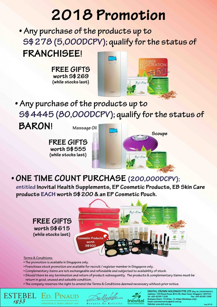 2.Aug's Promotion - Count & Baron, Franchisee Stock