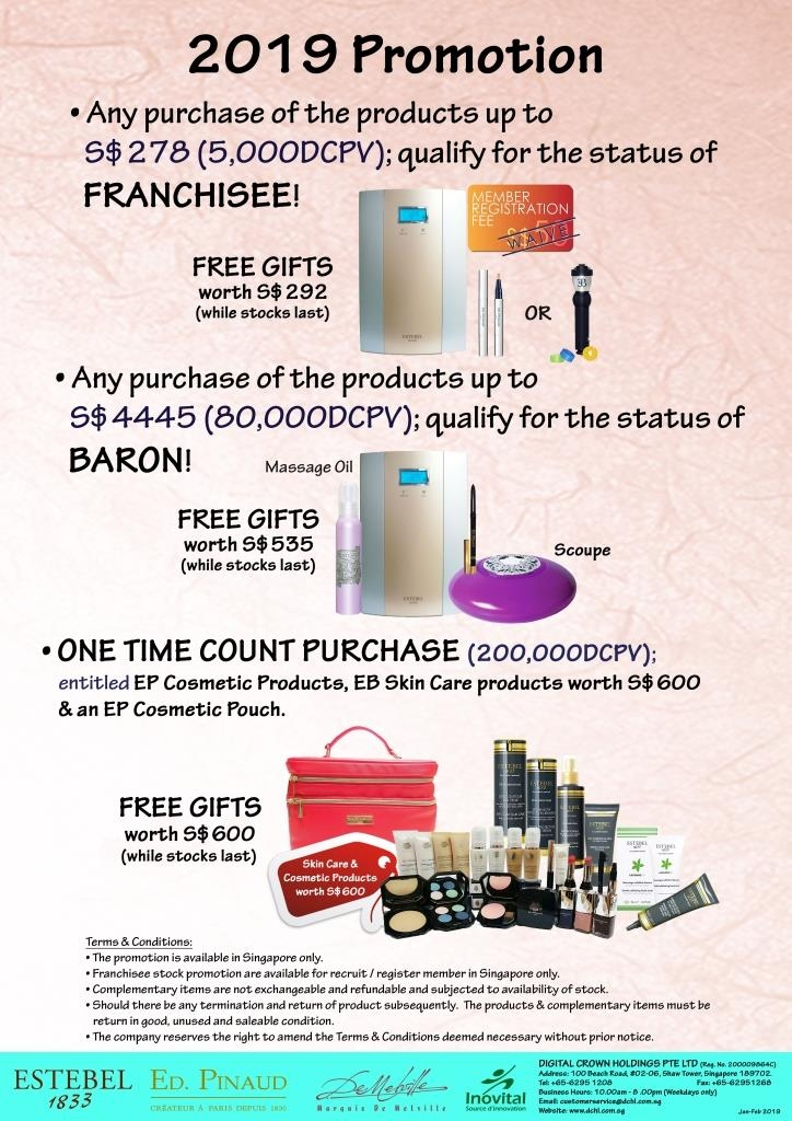2.Jan-Feb's Promotion - Count & Baron, Franchisee Stock