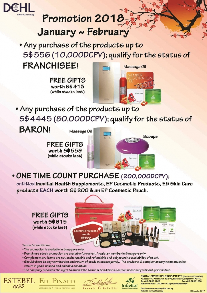 2.Jan~Feb'18 Promotion - Count & Baron, Franchisee Stock