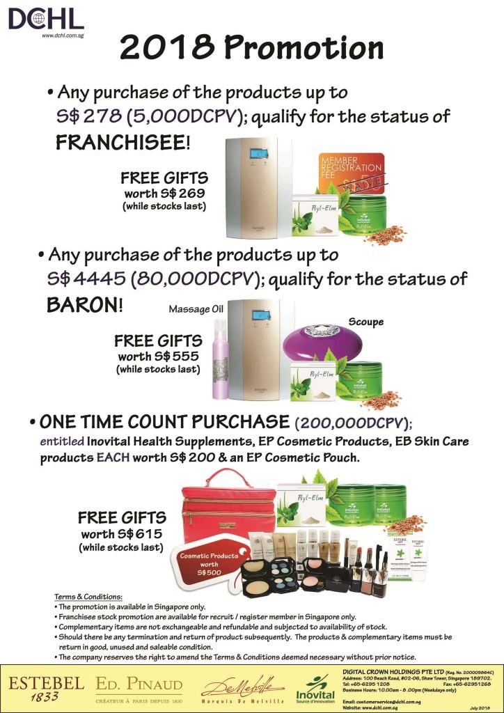 2.July's Promotion - Count & Baron, Franchisee Stock