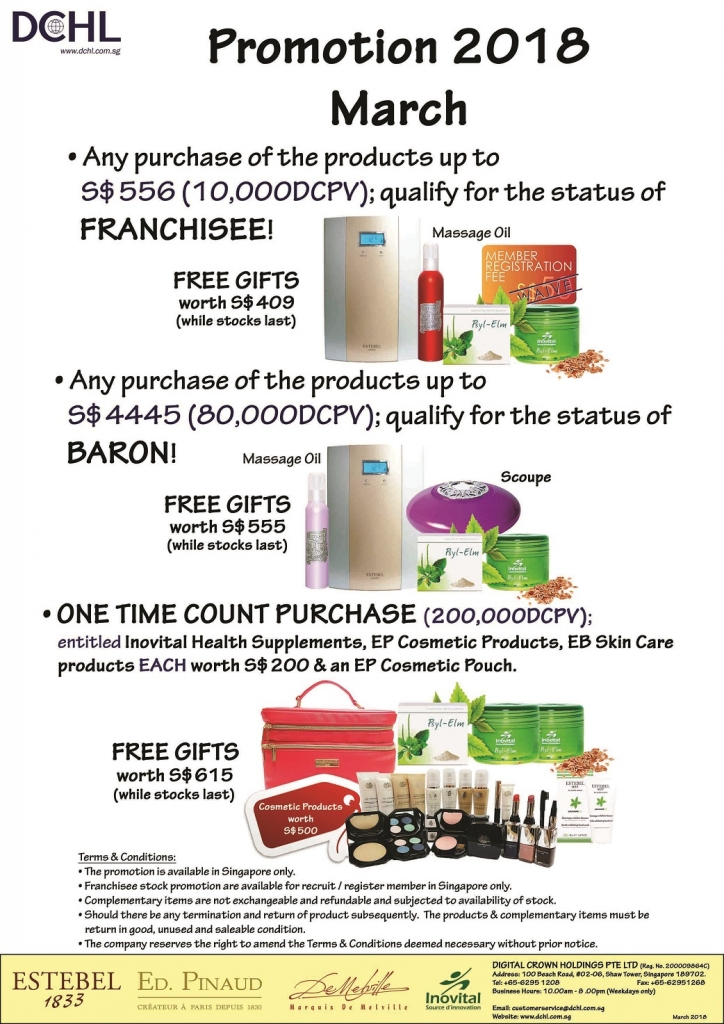 2.March'18 Promotion - Count & Baron, Franchisee Stock
