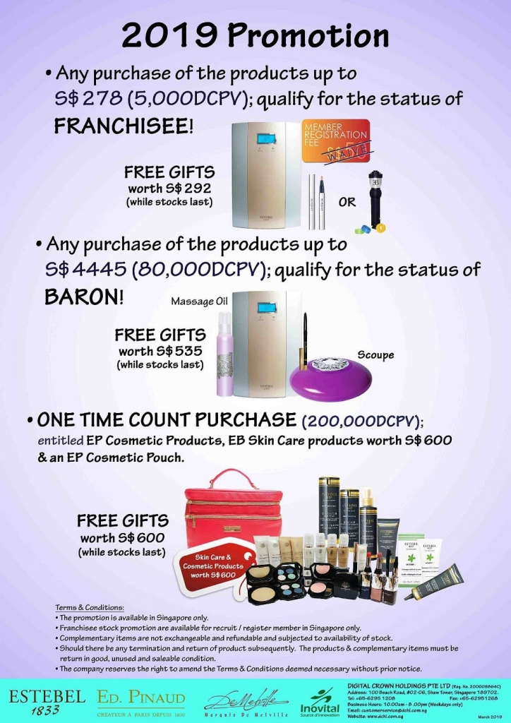 2.March's Promotion - Count & Baron, Franchisee Stock1