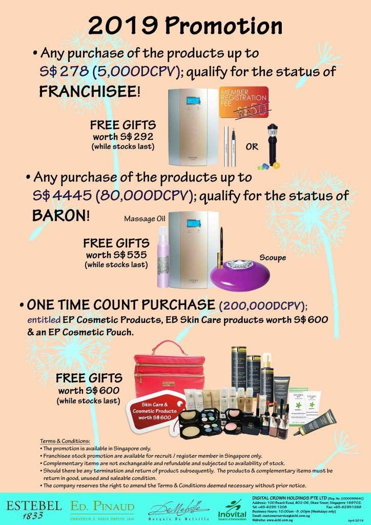 2.May's Promotion - Count & Baron, Franchisee Stock