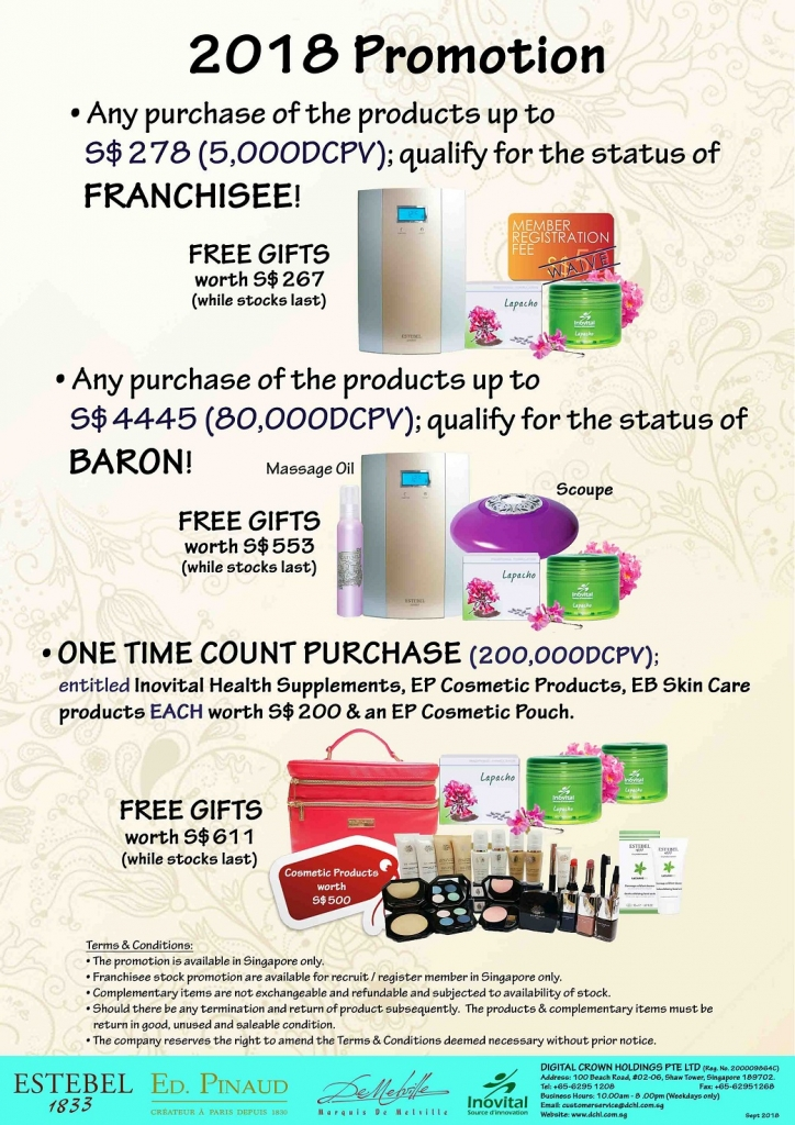 2.Sept's Promotion - Count & Baron, Franchisee Stock
