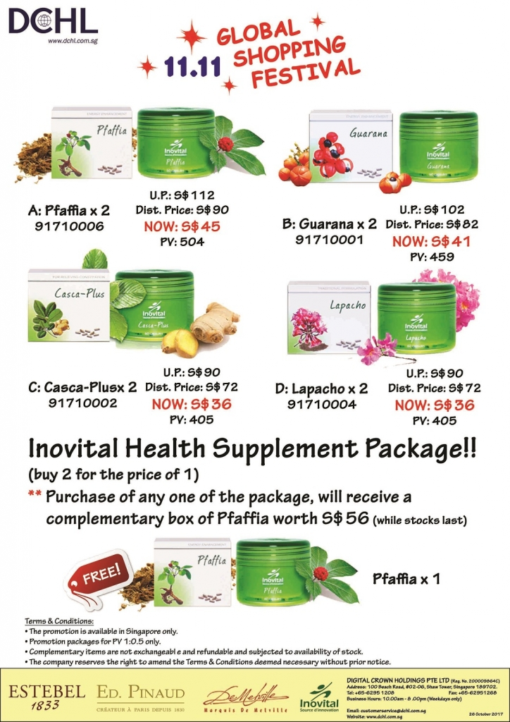 3. Inovital Promotion Packages