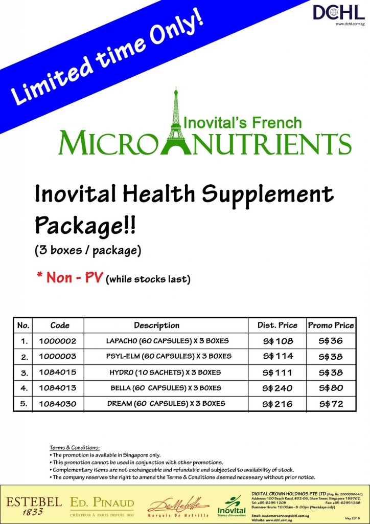 4. Inovital Packages