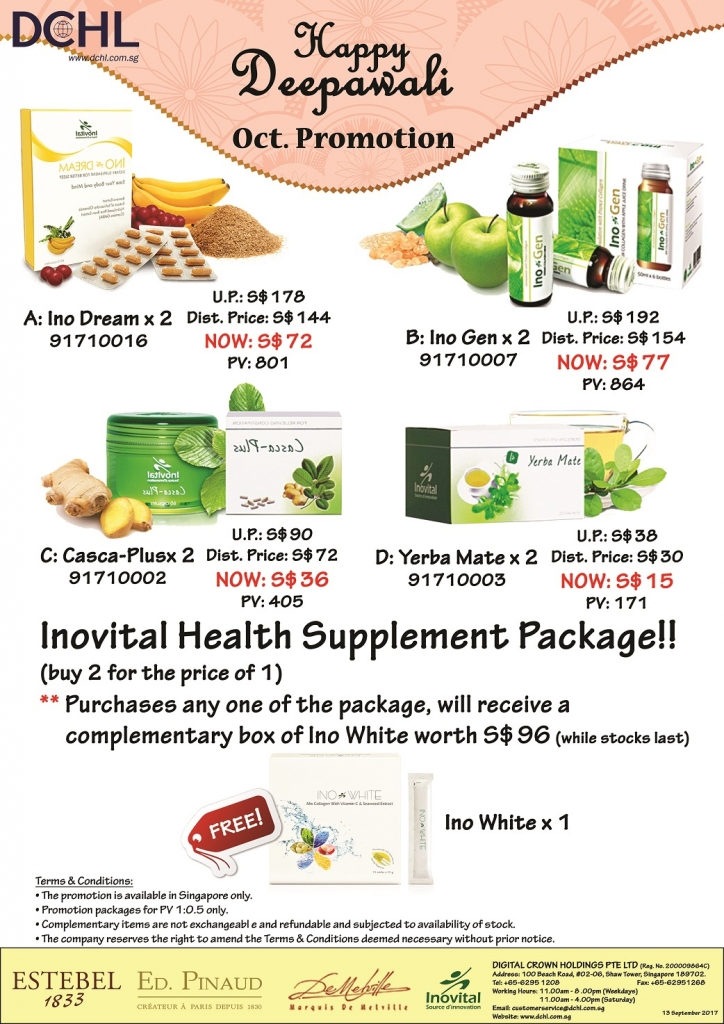 4. Inovital Promotion Packages