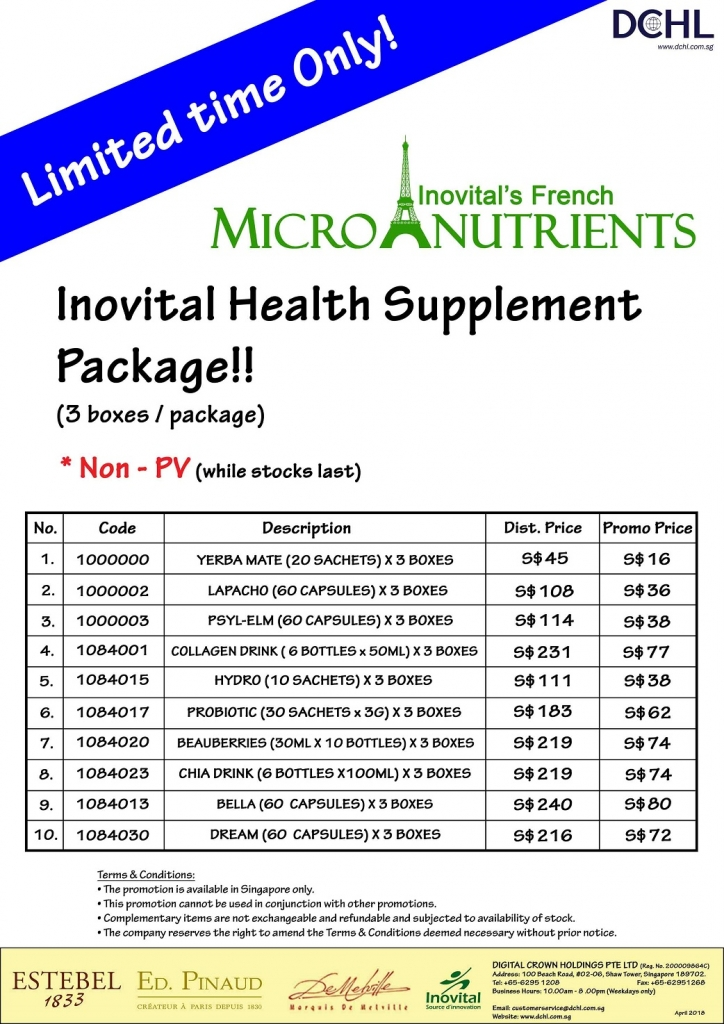 4.Inovital Packages