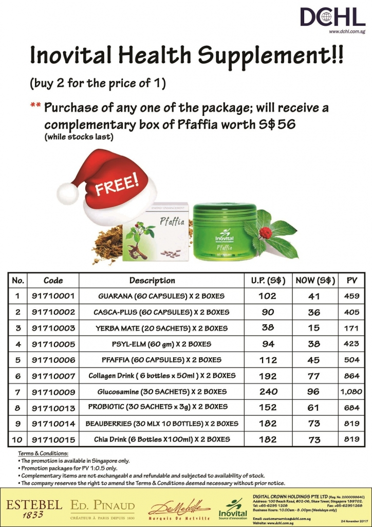 5. Inovital Promotion Packages