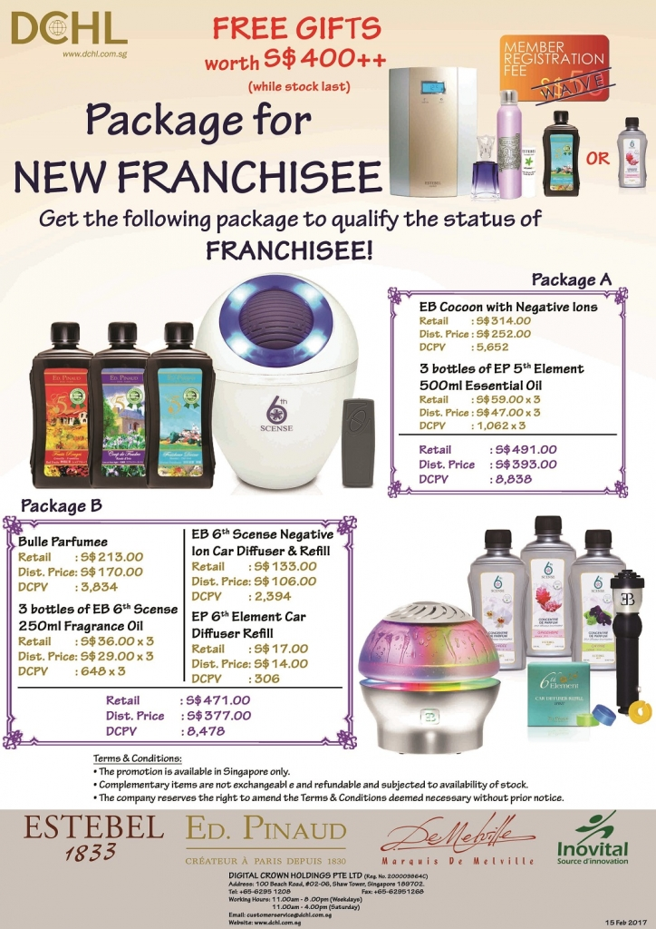 Franchisee Stock - Packages