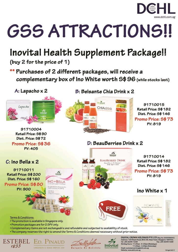 Inovital Promotion Packages