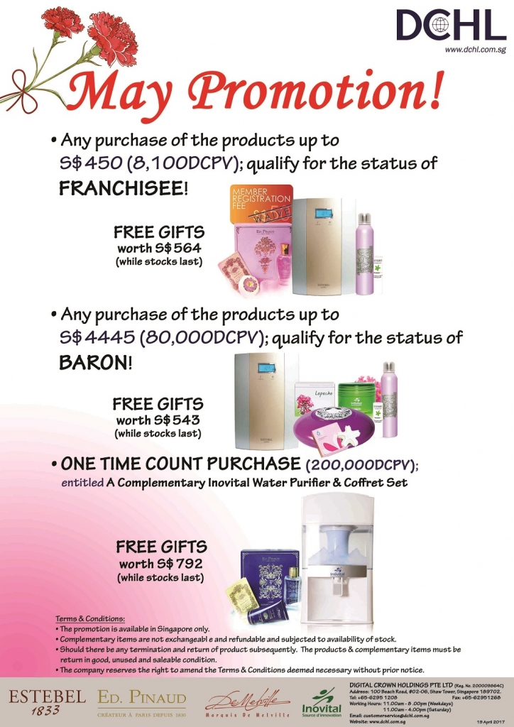 May Promotion - Count & Baron, Franchisee Stock