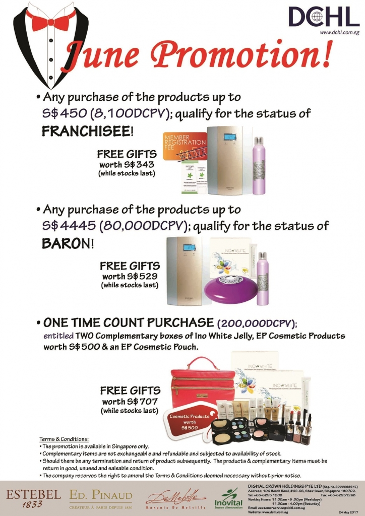 2June Promotion - Count & Baron, Franchisee Stock