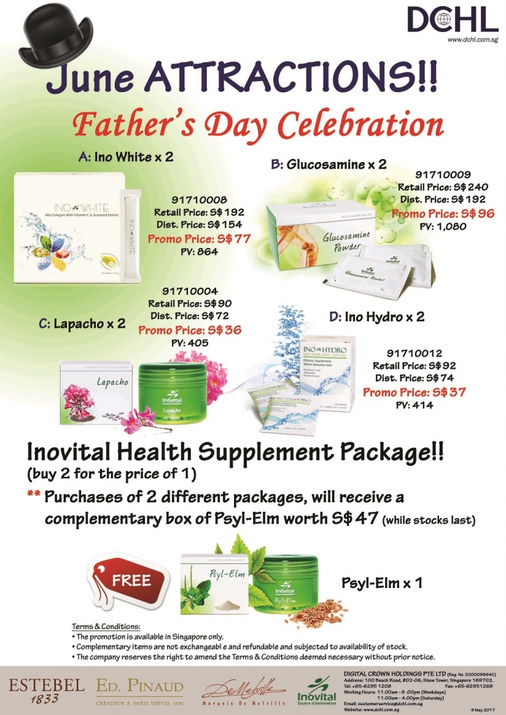 3Inovital Promotion Packages